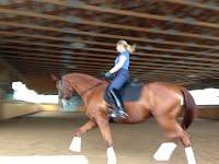 Imke riding Duke